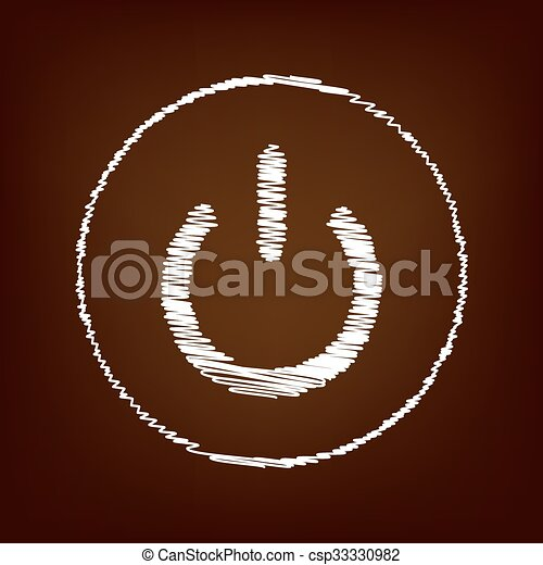 Scrible icon on the brown background - csp33330982