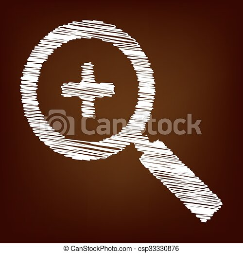 Scrible icon on the brown background - csp33330876