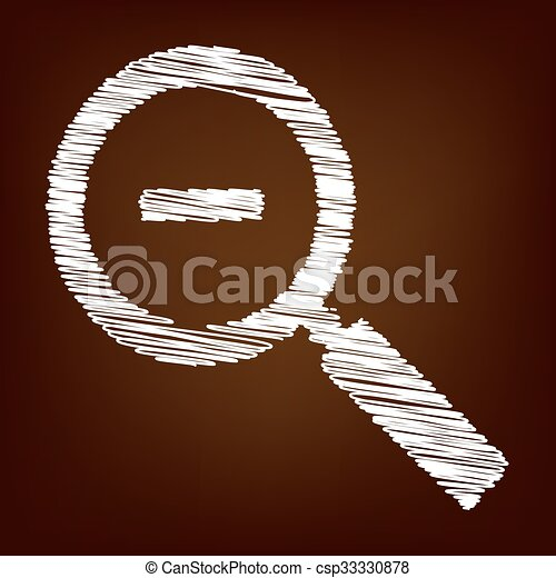 Scrible icon on the brown background - csp33330878
