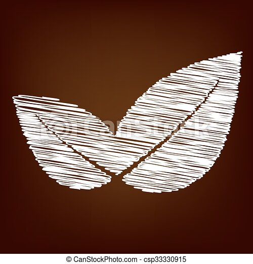 Scrible icon on the brown background - csp33330915