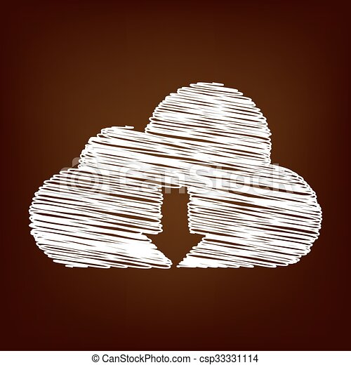 Scrible icon on the brown background - csp33331114