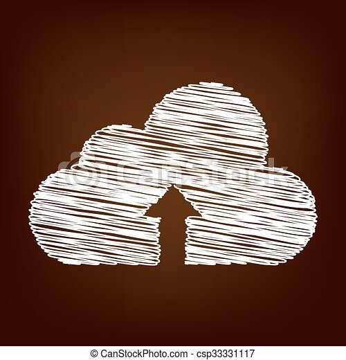 Scrible icon on the brown background - csp33331117