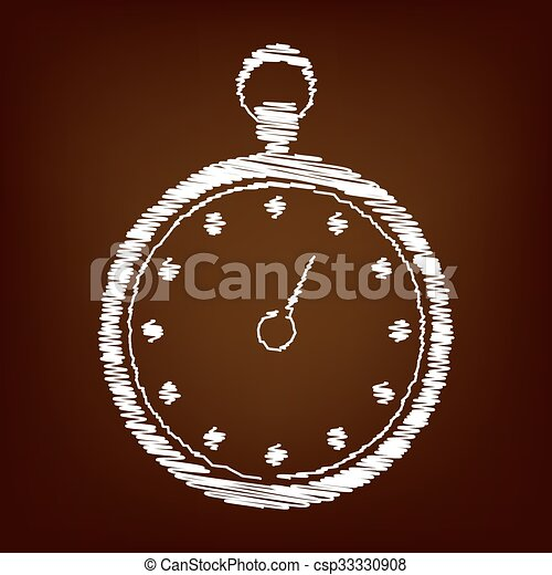 Scrible icon on the brown background - csp33330908