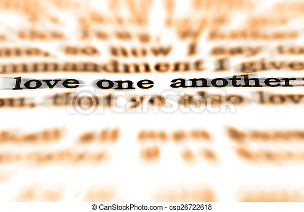 Scripture Quote Love One Another - csp26722618