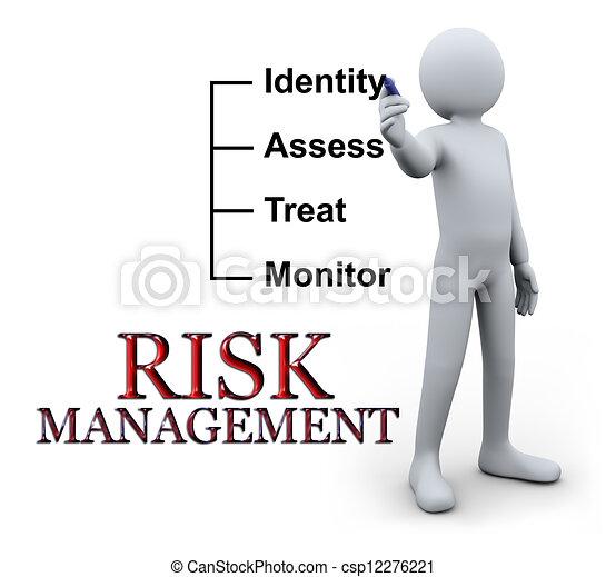 scrittura, 3d, uomo, amministrazione, rischio - csp12276221