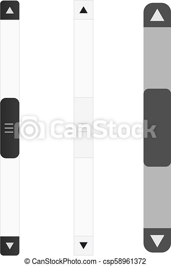 Scroll Bar Vector Icon Set