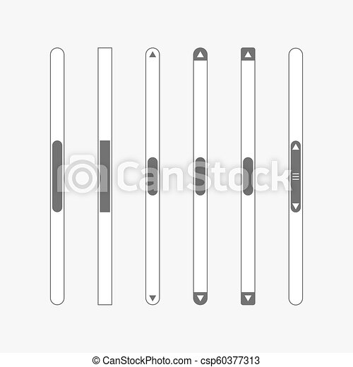 scroll bar vector