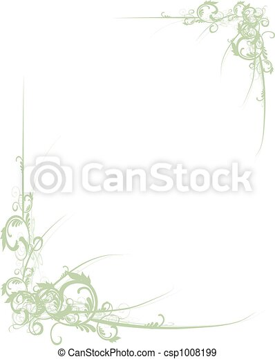 Scroll Border Green - csp1008199