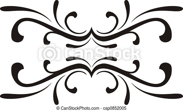Simple Line Art Designs : Scroll design. calligraphical figures created for stock