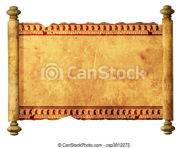 Scroll with Egyptian images  - csp3912272