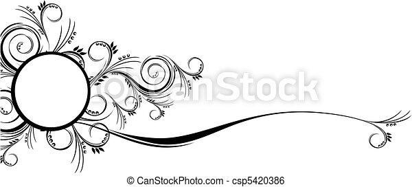 scrolls florals border ornaments - csp5420386