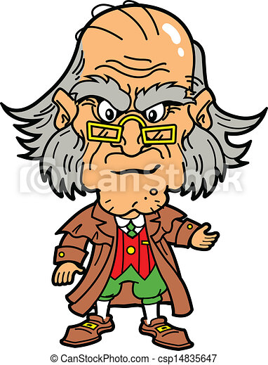 ebenezer scrooge making an angry face at christmas eps vector rh canstockphoto com Bah Humbug Clip Art uncle scrooge clipart