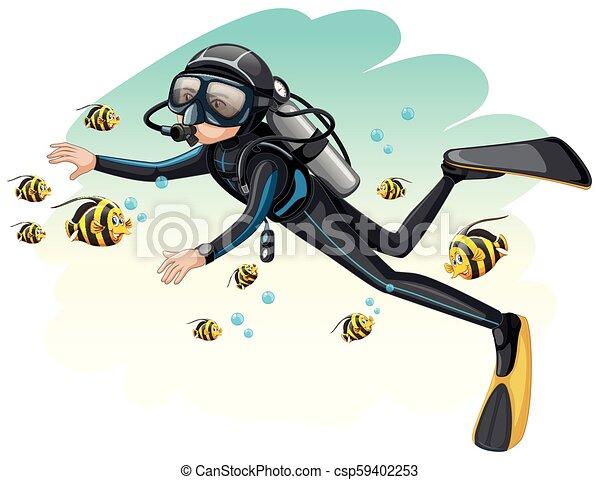 Scuba Diving Clip Art