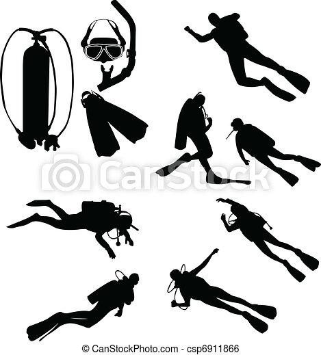 Scuba divers - csp6911866