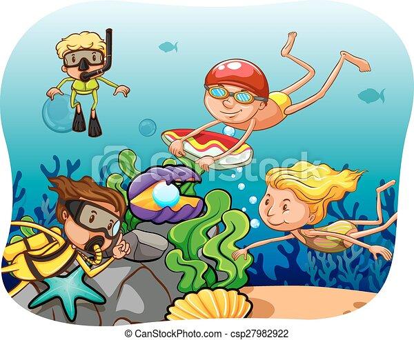 Scuba diving - csp27982922