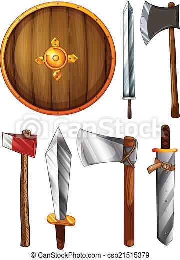 scudo, asce, spade - csp21515379