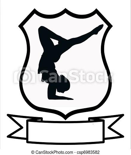 scudo, donna, sport, ginnastica - csp6983582