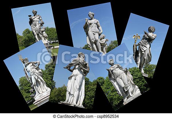 Sculpture statues - csp8952534