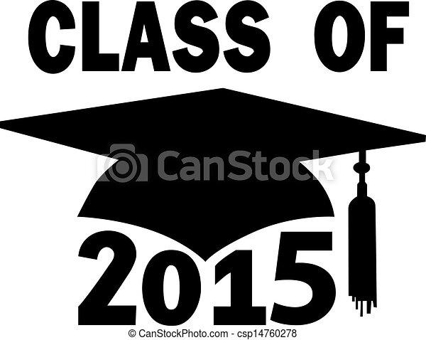 scuola, berretto, graduazione, alto, università, 2015, classe - csp14760278