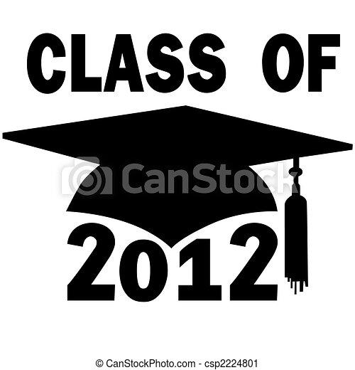 scuola, berretto, graduazione, alto, università, classe, 2012 - csp2224801