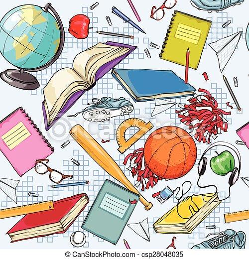 scuola, disegno, indietro - csp28048035
