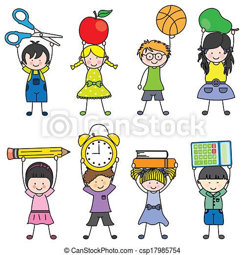 Scuola oggetti bambini for Scuola clipart