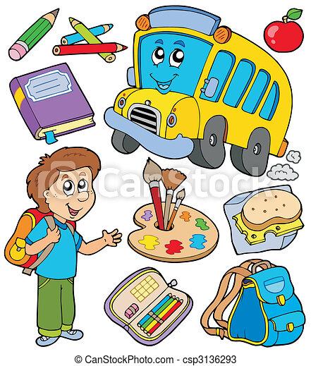scuola, oggetti, collezione - csp3136293