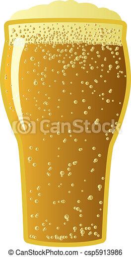 scuro, birra chiara - csp5913986