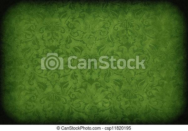 scuro, parete, verde - csp11820195
