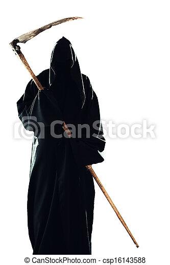 scythe man isolated - csp16143588