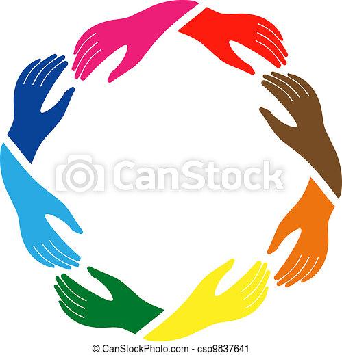El signo de paz y amistad - csp9837641