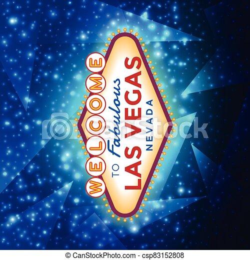 señal, bienvenida, las vegas - csp83152808