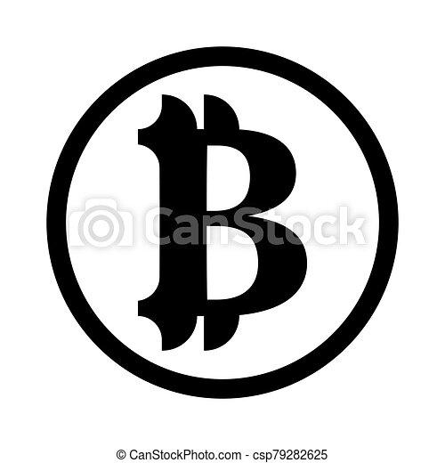 señal, bitcoin, vector, negro, tono - csp79282625