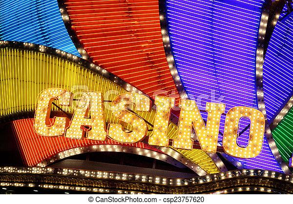 Señal de casino - csp23757620