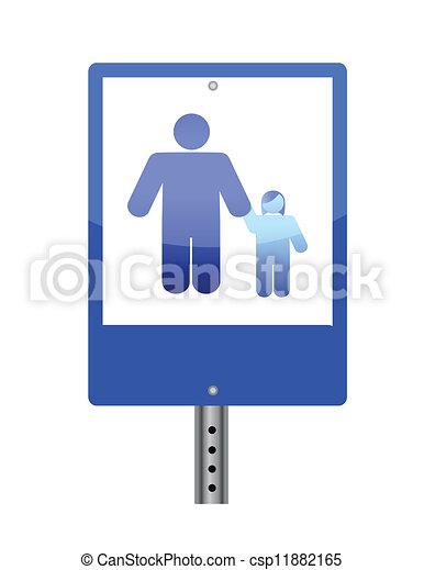 Ilustración de signos de cruce familiar - csp11882165