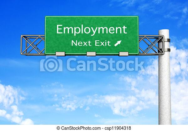 Señales de carretera: empleo - csp11904318
