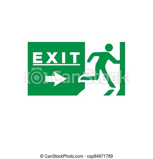 señal de emergencia, salida - csp84971789