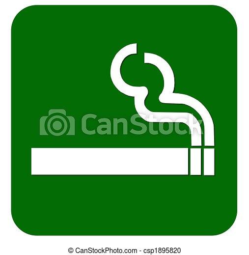 Firma en el área de fumar - csp1895820