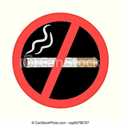 No se puede fumar en el fondo negro - csp64786787
