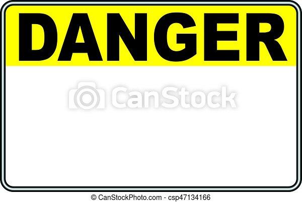 Señal de peligro - csp47134166