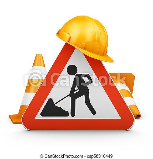El cartel de tráfico - csp58310449