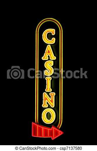 Un signo de casino - csp7137580