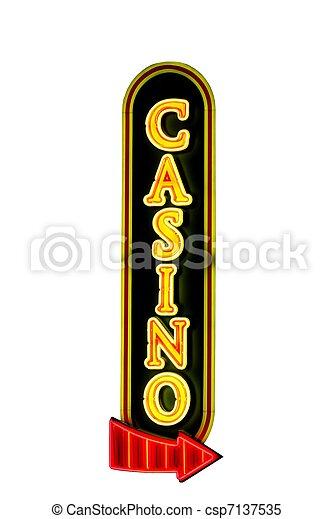 Un signo de casino - csp7137535