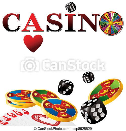 Un signo de casino - csp8925529