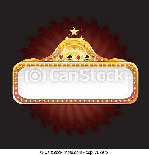Un signo de casino - csp6762972