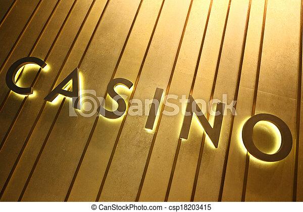 Señal de casino - csp18203415