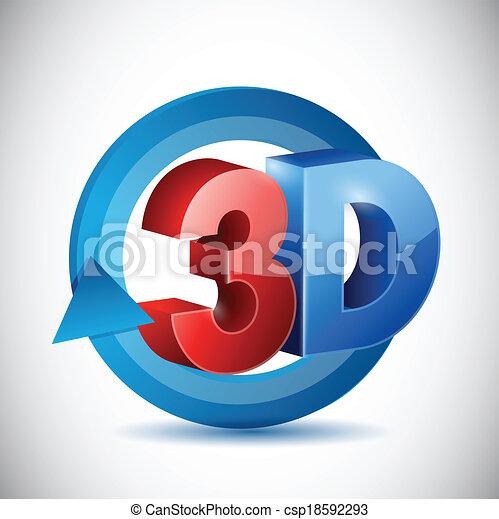 señal, diseño, 3d, ilustración, ciclo - csp18592293