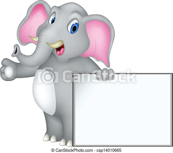 Dibujos de elefante con señales en blanco - csp14010665