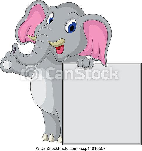 Dibujos de elefante con señales en blanco - csp14010507