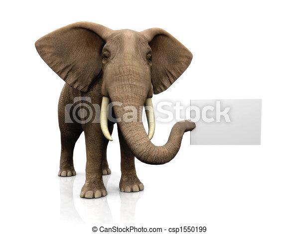 Elefante con signo - csp1550199